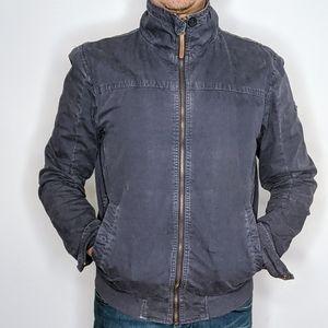 Vintage lightweight bomber Jacket with high collar